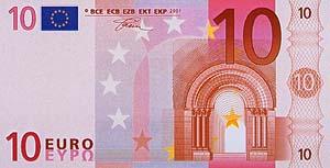 Euro 10 Werbeprämie - Geldschein